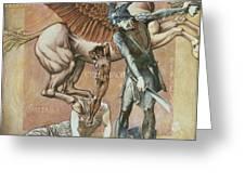 The Death Of Medusa I, C.1876 Greeting Card