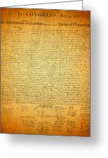 The Declaration Of Independence - America's Founding Document Greeting Card