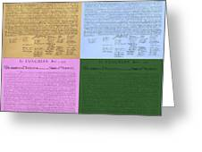 The Declaration Of Independence In Colors Greeting Card by Rob Hans
