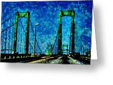 The Delaware Memorial Bridge Greeting Card