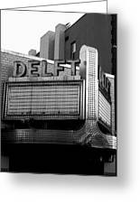 The Delft Marquette Mi Greeting Card