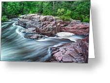 The Dells Of The Eau Claire River  Greeting Card
