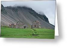The Deserted Farm Horn In Iceland Greeting Card