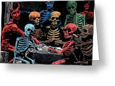 The Devil And Friends Greeting Card