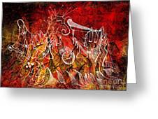 The Devil's Markings Illuminate The Fires Of Hell Greeting Card