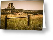The Devils Tower Greeting Card