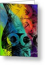 The Diagram Abstract Art  Greeting Card