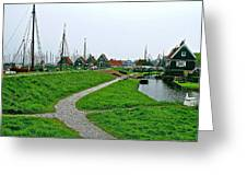 The Dike In Enkhuizen-netherlands Greeting Card