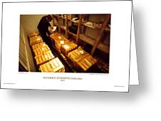 Anthony Howarth Collection - Gold- The Diligent Clerk Greeting Card
