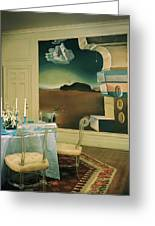 The Dining Room Of Princess Gourielli Greeting Card