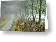 The Disappearing Man - Wolfscote Dale Greeting Card