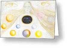 The Discovery Of The Cosmic Spirit Greeting Card