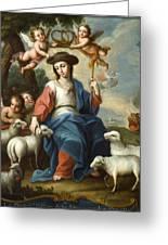 The Divine Shepherdess Greeting Card