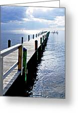 The Dock Of The Bay Greeting Card
