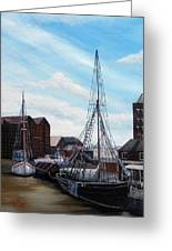 The Docks Gloucester Greeting Card