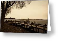 The Docks On Lake Minnetonka Greeting Card