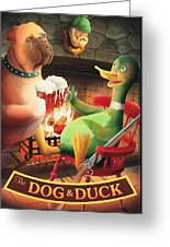 The Dog & Duck Greeting Card
