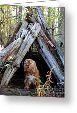 The Dog In The Teepee Greeting Card