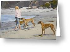 The Dog Walker Greeting Card