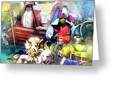 The Dogs Parade In New Orleans Greeting Card