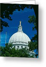 The Dome Of The Wisconsin State Capitol Greeting Card