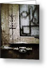 The Door Of Belcourt Greeting Card