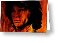 The Doors Light My Fire Greeting Card