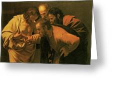 The Doubting Of St Thomas Greeting Card