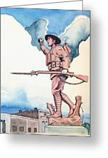 The Doughboy Stands Greeting Card by Katherine Miller