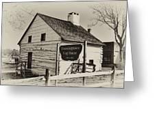 The Downingtown Log House  Greeting Card