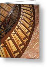 The Downside Of Spiral Stairs Greeting Card