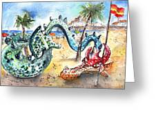 The Dragon From Penicosla Greeting Card