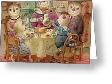 The Dream Cat 08 Greeting Card by Kestutis Kasparavicius