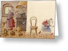 The Dream Cat 12 Greeting Card by Kestutis Kasparavicius