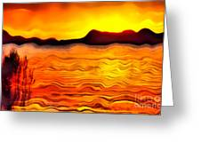 The Dream Landscape On Balaton Lake Greeting Card