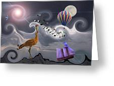 The Dream Voyage - Mad World Series Greeting Card