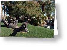 The Dreamer Sculpture In Palm Desert Greeting Card