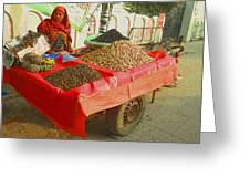 The Dried Fruit Seller Greeting Card