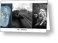 The Dubliners Greeting Card by Colin O neill