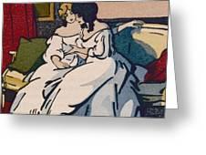 The Duchesse De Langeais Visiting The Vicomtesse De Beauseant Greeting Card by Quint