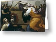 The Duel Of Isabella De Carazzi And Diambra De Pottinella Greeting Card