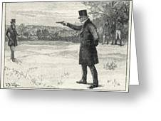 The Duke Of Wellington Fights A  Duel Greeting Card