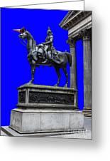 The Duke Of Wellington Goma Blue Greeting Card