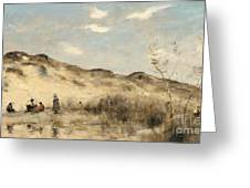 The Dunes Of Dunkirk Greeting Card by Jean Baptiste Camille Corot