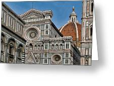 The Duomo And Baptistery Of St. John Greeting Card