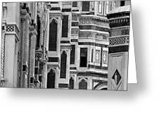 The Duomo Black And White Greeting Card