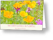 The Earth Laughs In Flowers Digital Art Greeting Card
