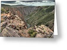 The Edge Of Back Canyon Greeting Card