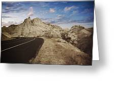 The Edge Of The Badlands Greeting Card