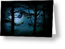 The Edge Of Twilight  Greeting Card